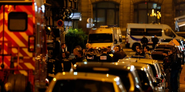 The Paris police said the attacker was subdued by officers during the stabbing attack in the 2nd arrondissement or district of the French capital Saturday.