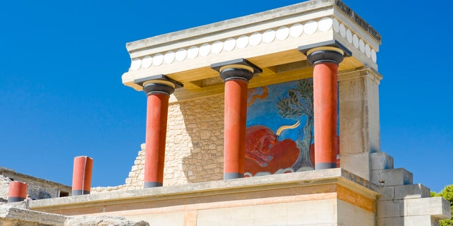 North gate at Knossos palace, Crete, Greece, iStock