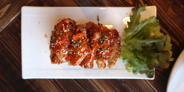Chicken wing with Barbecue sauce in Korean style