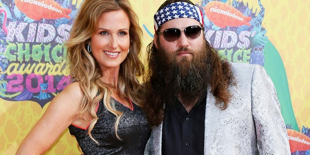Willie Robertson and Korie Robertson arrive at the 27th Annual Kids' Choice Awards in Los Angeles, California March 29, 2014.