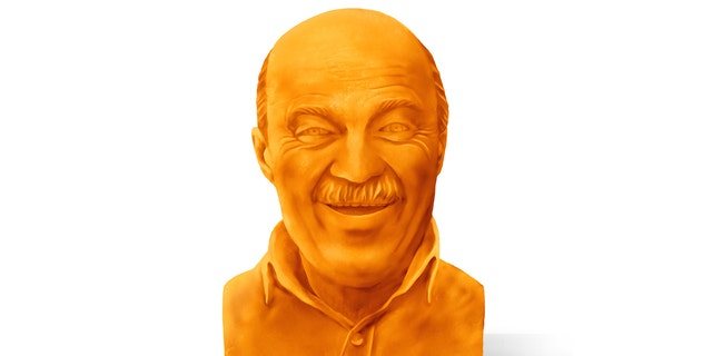 Five winning bidders will be sent a bust of their own father made from a 40-pound block of cheddar.