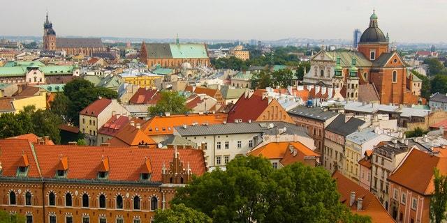 View on the Krakow city