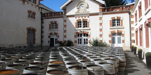 Barrels at Krug Champagne in Reims, France.
