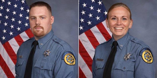 Deputy Sheriff Theresa King (right) and Deputy Sheriff Patrick Rohrer (left) were shot on June 15.