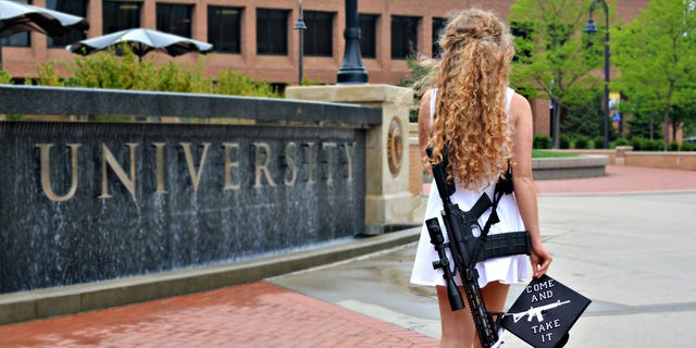 Kent State University graduate, Kaitlin Bennett, went viral for taking a parting shot at her school's anti-gun policy.