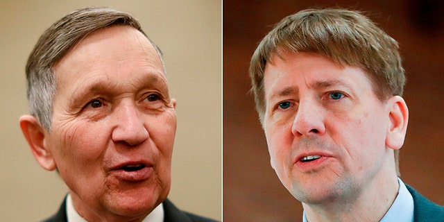 Dennis Kucinich, left, and Richard Cordray are top candidates in the Ohio Democratic primary for governor.