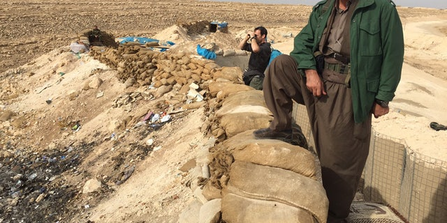 Kurdish forces on the frontlines in northern Iraq