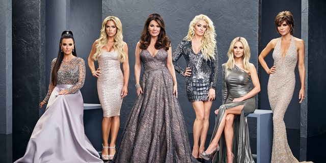 Erika Girardi is a cast member of 'The Real Housewives of Beverly Hills.' Pictured here from left to right is the cast of Season 8: Kyle Richards, Teddi Mellencamp Arroyave, Lisa Vanderpump, Erika Girardi, Dorit Kemsley, Lisa Rinna.