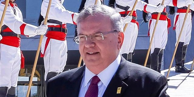 Greece's ambassador to Brazil, Kyriakos Amiridis, at a government ceremony in Brasilia, Brazil.