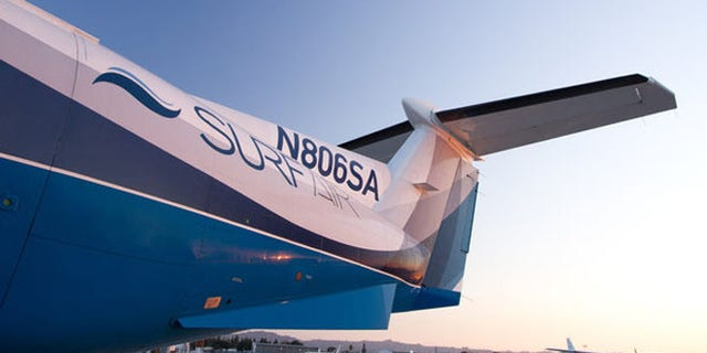 Surf Air, a Santa Monica-based membership airline, reported its first flight Wednesday.