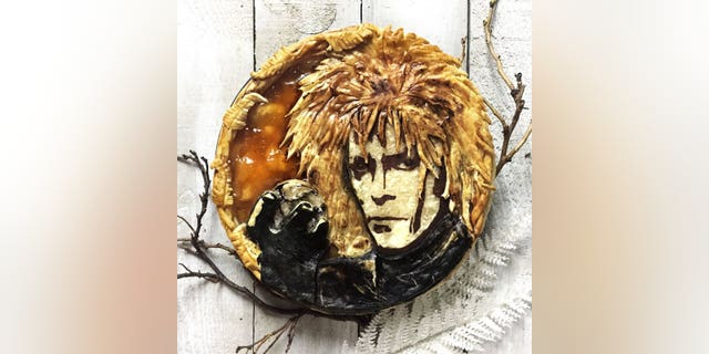 "Clark-Bijon credits her successful pie creations to speed and planning. This David Bowie as the Goblin King from ""Labyrinth"" was suggested by an Instagram follower."