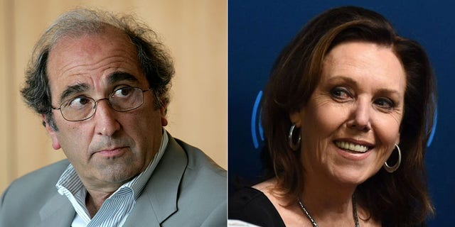 NBC chairman Andy Lack and liberal commentator Joan Walsh, who was fired by MSNBC as a contributor and hired by CNN.