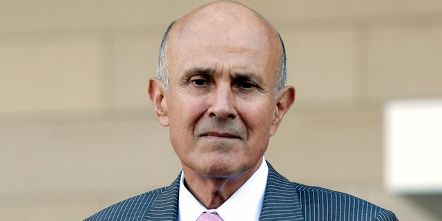 Former Los Angeles County Sheriff Lee Baca leaves federal court in Los Angeles, 2018