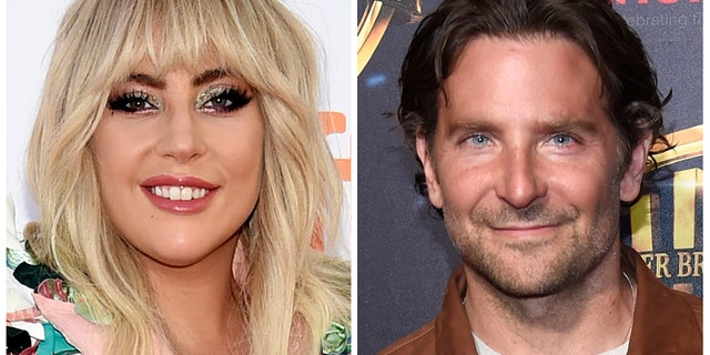 "This combination of photos shows Lady Gaga, left, at a premiere for ""Gaga: Five Foot Two"" at the Toronto International Film Festival in Toronto on Sept. 8, 2017 and Bradley Cooper at the Warner Bros. presentation at CinemaCon 2018, at Caesars Palace in Las Vegas on April 24, 2018. Lady Gaga and Bradley Cooper sing in the first trailer for the upcoming remake of the 1937 film ""A Star Is Born."""