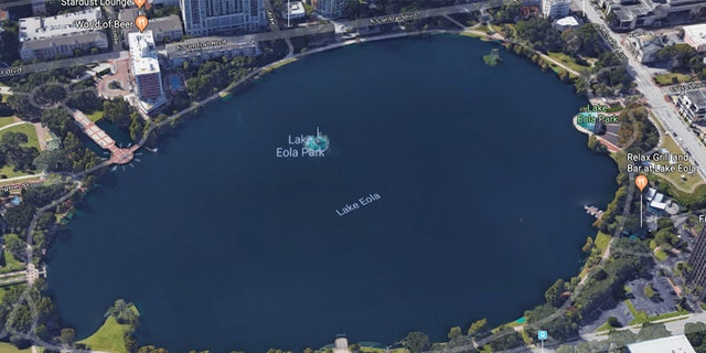Police say 36-year-old Kyle Thurston stranded himself on the Linton E. Allen Memorial Fountain in the middle of the lake.