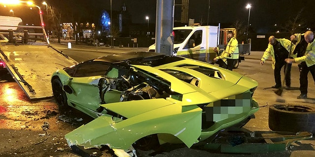 An Entire Rear Quarter Of The 400 000 Car Was Torn Away In Collision