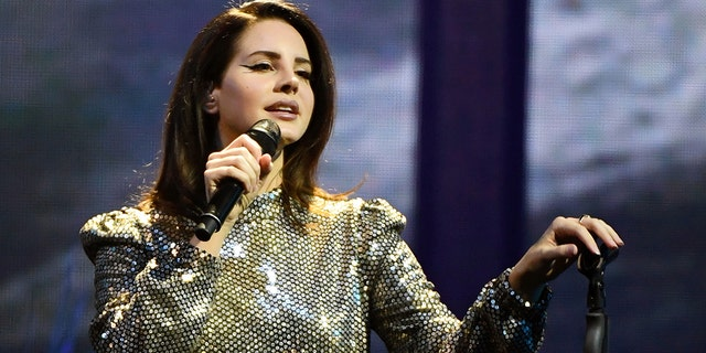 """Singer/songwriter Lana Del Rey performs during a stop of her LA to the Moon Tour in support of the album """"Lust for Life"""" at the Mandalay Bay Events Center on Feb. 16, 2018 in Las Vegas."""