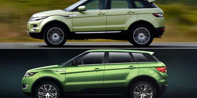 Range Rover Evoque (top)/Land Wind X7 (bottom) (Land Rover/Land Wind)
