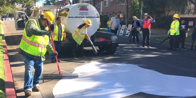 Each coating of CoolSeal is estimated to cost $40,000 a mile, city officials told the LA Daily News.