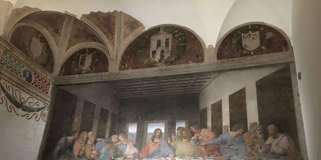 "Leonardo Da Vinci's ""Last Supper"" is located in an old Milan convent."