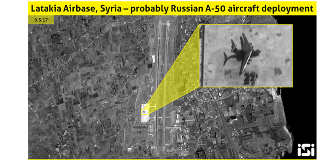 Russia also recently sent a new A-50 airborne early warning or AWACS plane to its large airbase in Syria, according to new photos from ImageSat International.