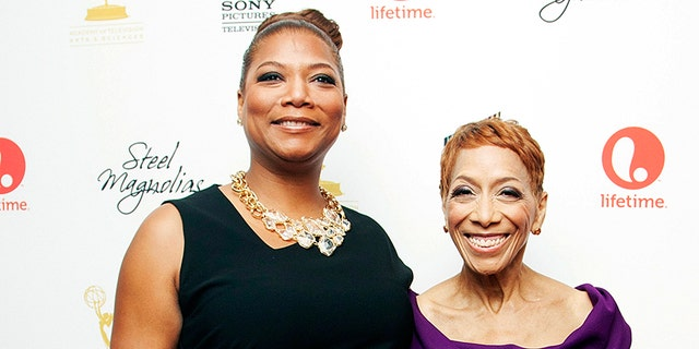 Queen Latifah and her mother Rita Owens attend Lifetime Network's 'Steel Magnolias' premiere event in New York, Oct. 3, 2012.