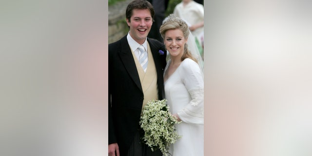 Camilla's daughter, Laura Lopes, at her 2006 wedding to former model Harry Lopes. Both Prince Harry, Prince William and Kate Middleton attended the ceremony.