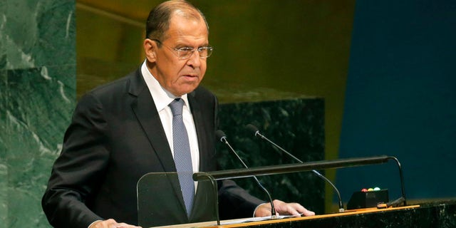 Sergey Lavrov has attacked the U.S. at the U.N. General Assembly.