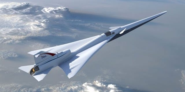 An illustration of what the Low Boom Flight Demonstrator could look like. NASA says its design would reduce the sound of the sonic boom to a gentle thump.