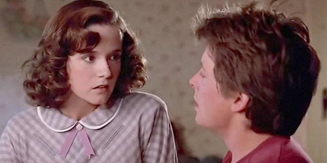 Lea Thompson with Michael J. Fox.