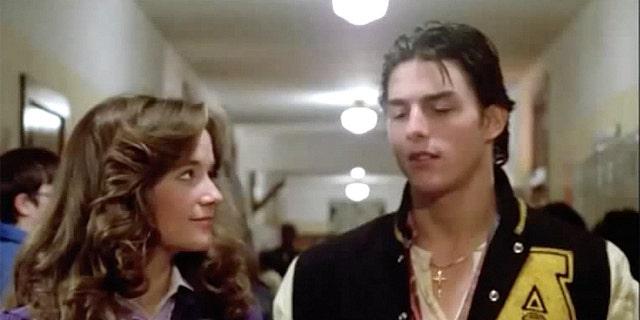 Lea Thompson with Tom Cruise.