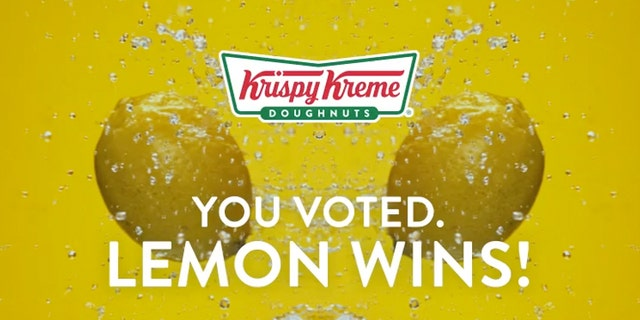 Voters chose from four flavors -- lemon, blueberry, caramel and maple -- for the new glaze. The new Lemon Glazed Doughnut will run for one week at participating stores during the spring.