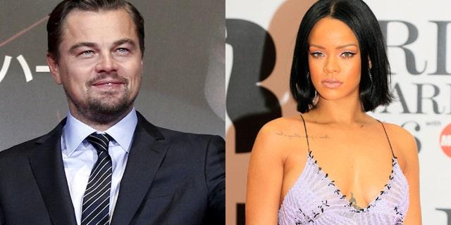 Leonardo DiCaprio, left, and Rihanna were snapped spending some time together. REUTERS