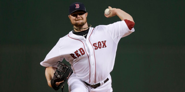 best sneakers f3e76 a580e Red Sox pitcher Lester accused of foreign substance on glove ...