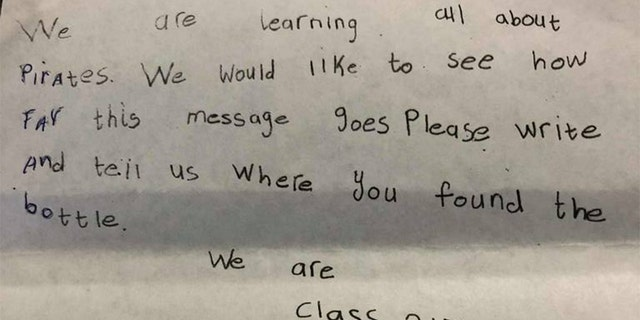 A note written by Scottish children more than 30 years ago was put in a bottle and tossed into the North Sea. A Florida couple found it after Hurricane Irma.