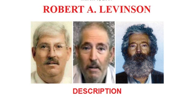 An 2012 FBI poster displayed shows Robert Levinson, who disappeared from Kish Island, Iran, on March 9, 2007.