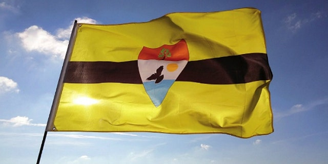 The official flag of Liberland.