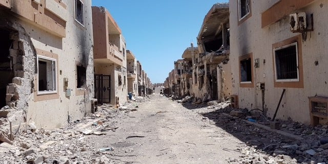 July 2016: Haunting remains of what is left of Sirte, Libya.