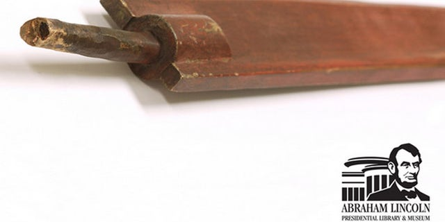 The copper blade of a sword wielded by an artillery officer in a monument at President Lincoln's grave disappeared in 2011. Springfield, Ill., police recovered the 3-foot-long sword blade months later.