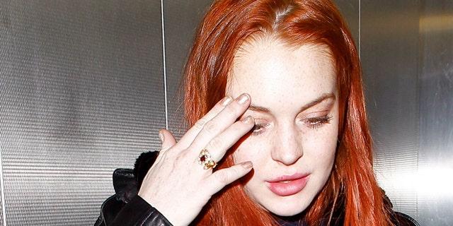Lindsay Lohan in Los Angeles.