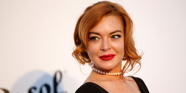 Lindsay Lohan arrives at the 70th Cannes Film Festival in 2017.