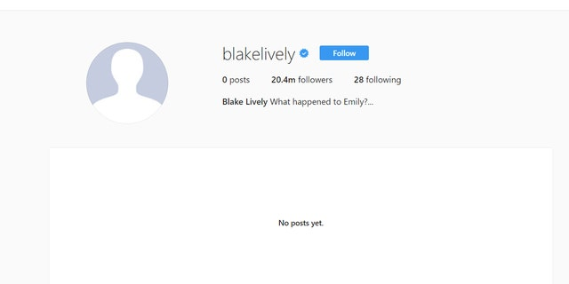 Lively's current Instagram page shows no posts.