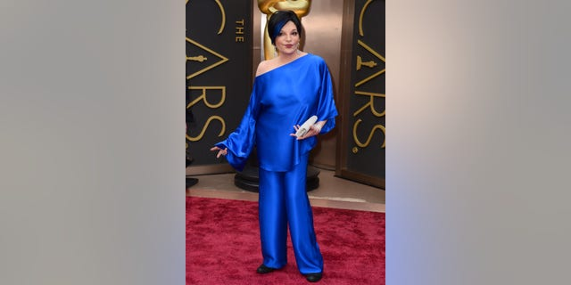 Liza Minnelli arrives at the Oscars on Sunday, March 2, 2014, at the Dolby Theatre in Los Angeles.  (Photo by Jordan Strauss/Invision/AP)