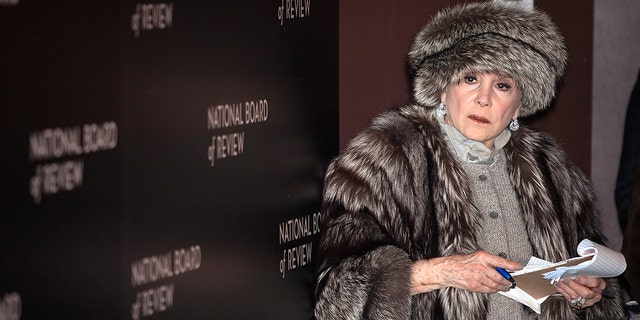Gossip columnist Liz Smith working on the red carpet at the National Board of Review gala in New York City on January 6, 2015.