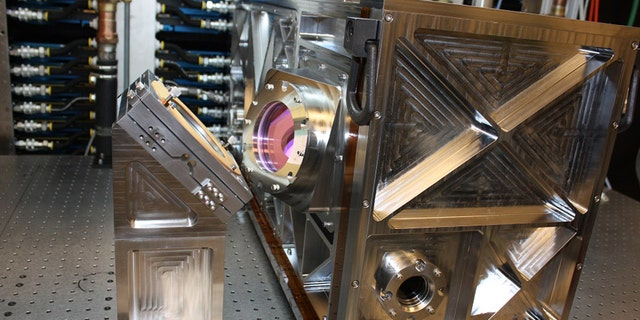 Lockheed Martin says the fiber lasers that comprise the 30-kilowatt ALADIN laser are under production at its Bothell, Washington, facility. The modular laser design lets the laser's power adapt to specific missions (Lockheed Martin).