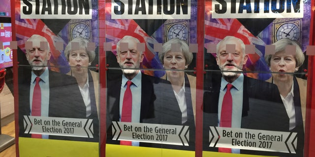 Conservative Prime Minister Theresa May (right) is up against Labour party leader Jeremy Corbyn.