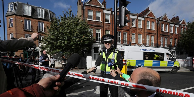 Deputy Chief Constable Adrian Hanstock of the British Transport Police makes a statement to the media after an incident at Parsons Green underground station in London, Britain, September 15, 2017.  REUTERS/Luke MacGregor - RC1840F389E0