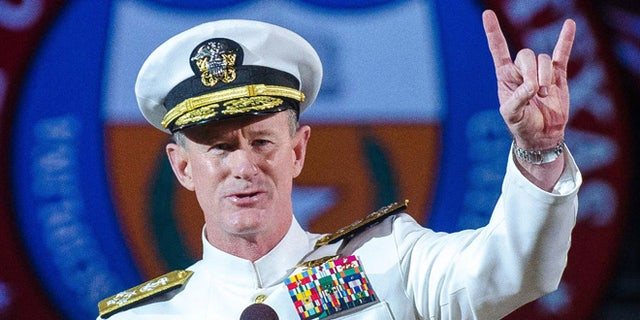 Adm. William H. McRaven at the University of Texas in Austin in 2014. (AP Photo/ The University of Texas at Austin, Marsha Miller, File)