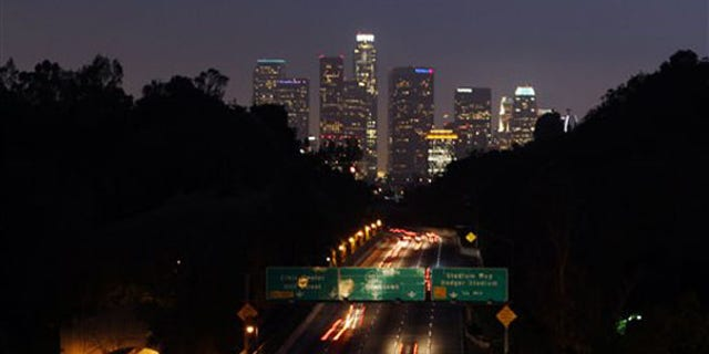 Traffic flows along the Pasadena Freeway May 14 in Los Angeles. (AP Photo)