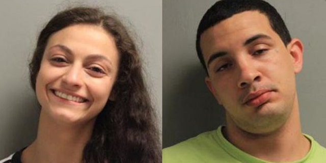 Jamie Lee Coutee, 19, and Miguel Camille Glorioso, 20, were caught having sex in the stairwell at a Louisiana courthouse, police say.